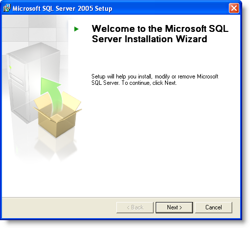 Installation of Microsoft SQL Server 2005 Express Edition