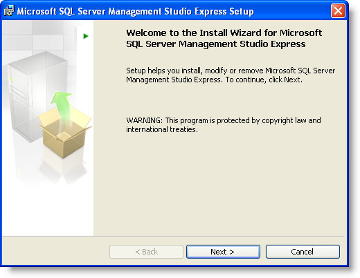 SQL Server Management Studio Express Setup