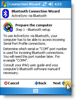 ANDRIY CO - Sync PDA via ActiveSync®  Setting up ActiveSync